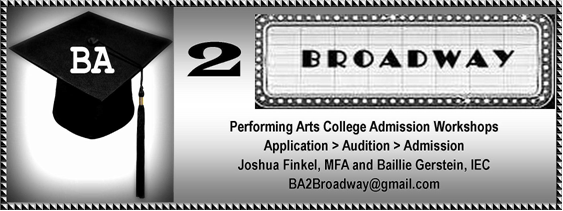 BA 2 Broadway College Workshop with Joshua Finkel and Baillie Gerstein