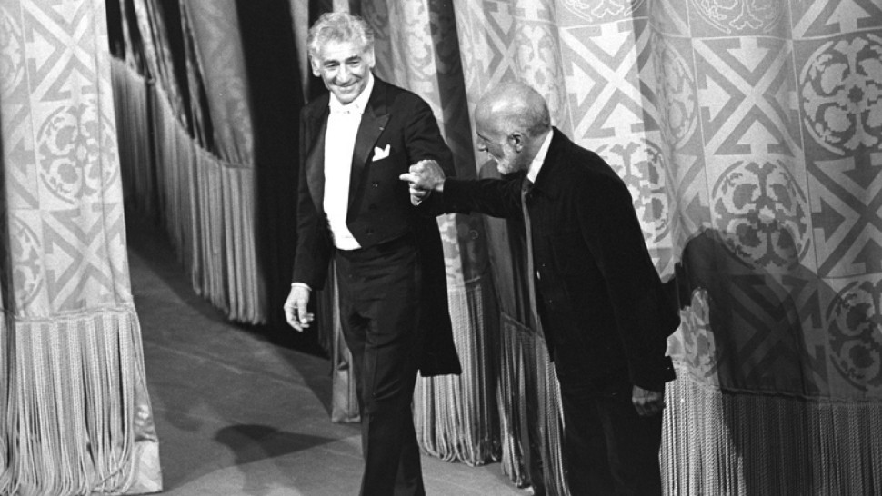 "Bernstein and Robbins take a bow after <i data-rte2-sanitize=""italic"">Dybbuk</i>"